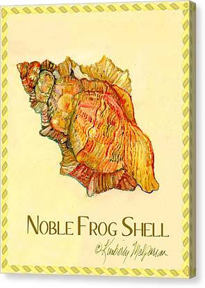 Noble Frog Shell Canvas Print