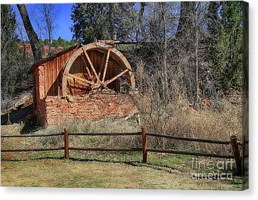 Old Brick Water Mill  Canvas Print