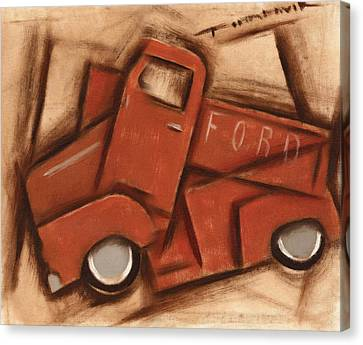 Old Cubism Truck Art Print Canvas Print