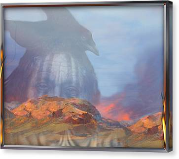' Old Fire Eyes Returns ' Canvas Print
