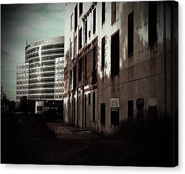 Old Mills And New Offices Canvas Print by Kat Loveland