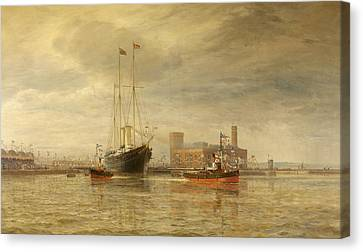 Opening Of The Royal Edward Dock, Avonmouth Canvas Print