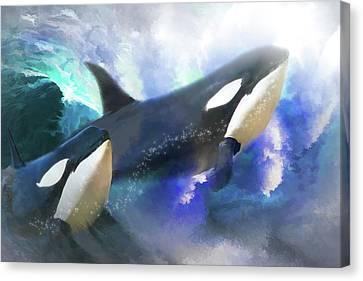 Orca Wild Canvas Print by Trudi Simmonds