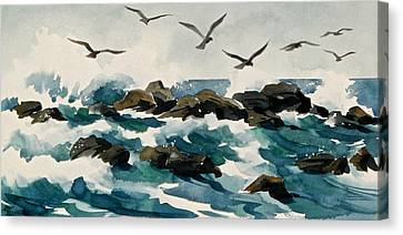 Out To Sea Canvas Print by Art Scholz