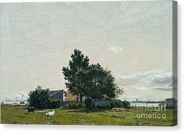 Party Near The Lime Kiln With Views Towards The Copenhagen  Canvas Print by Celestial Images