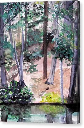 Plein Aire Durand Park Canvas Print by Judy Via-Wolff