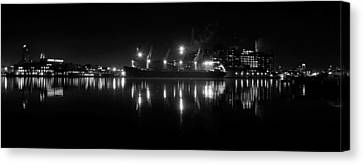 Point Lights Bw Canvas Print
