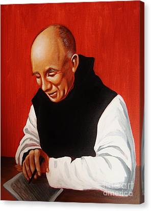 Portrait Of Thomas Merton Canvas Print