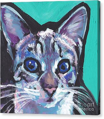 Pritty Kitty  Canvas Print by Lea S