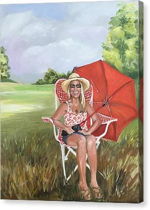 Rain Or Shine Canvas Print by Lee Ann  Billups Blevins