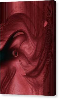 Red Elephant  Canvas Print by Linda Sannuti