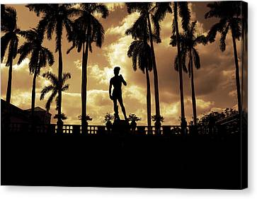 Replica Of The Michelangelo Statue At Ringling Museum Sarasota Florida Canvas Print by Mal Bray
