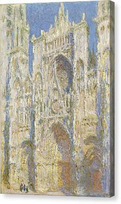 Portal Canvas Print -  Rouen Cathedral West Facade Sunlight by Claude Monet