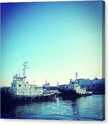 #船 #海 #ships #sea #sky Canvas Print by Bow Sanpo