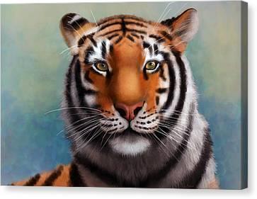 Siberian Tiger Canvas Print by Angela Murdock