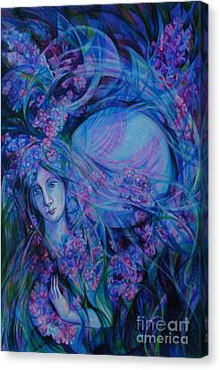 Song Of Lilac Canvas Print by Anna  Duyunova