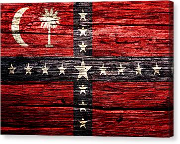 Prime Canvas Print -  South Carolina Sovereignty Secession Flag 4w by Brian Reaves