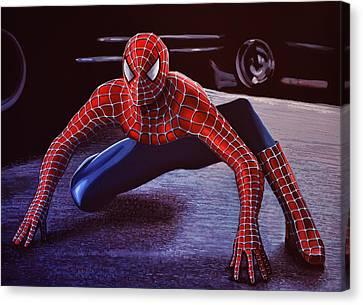 Avengers Canvas Print -  Spiderman 2  by Paul Meijering