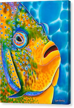Spotted Angelfish Canvas Print by Daniel Jean-Baptiste