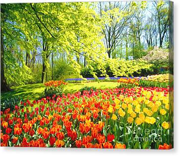 Painterly Canvas Print -  Spring Garden by Veikko Suikkanen