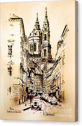St. Nicholas Church In Prague Canvas Print by Melanie D