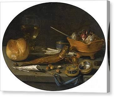 Still Life With A Roemer Canvas Print by MotionAge Designs