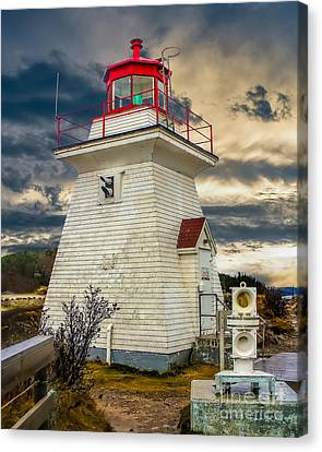 Stormy At Cape Enrage Canvas Print