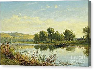 Streatley On Thames  Canvas Print by MotionAge Designs