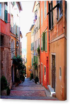 Streets Of Villefranche  Canvas Print by Julie Palencia