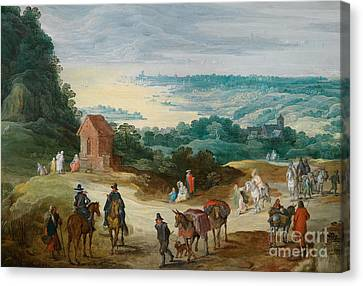 Stretch Riverside With Drawing Handlers Canvas Print