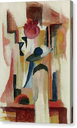 Study Of A Bright Shop Window Canvas Print by August Macke