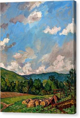 Summer Farm Berkshires Canvas Print by Thor Wickstrom