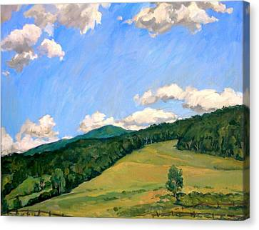 Summer Shapes Berkshires Canvas Print by Thor Wickstrom