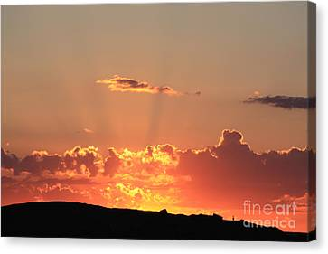 Canvas Print featuring the photograph  Sunset by Edward R Wisell
