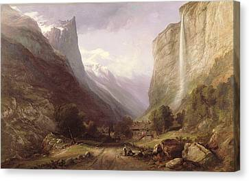 Swiss Scene Canvas Print by Samuel Jackson