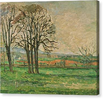 The Bare Trees At Jas De Bouffan  Canvas Print by Paul Cezanne