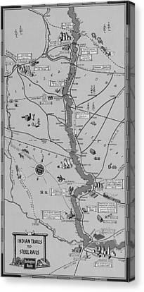 The Burlington Route Indian Trails To Steel Rails Canvas Print
