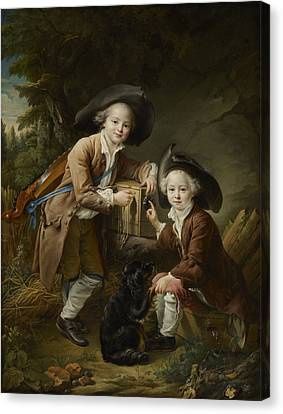 The Comte And Chevalier De Choiseul As Savoyards Canvas Print
