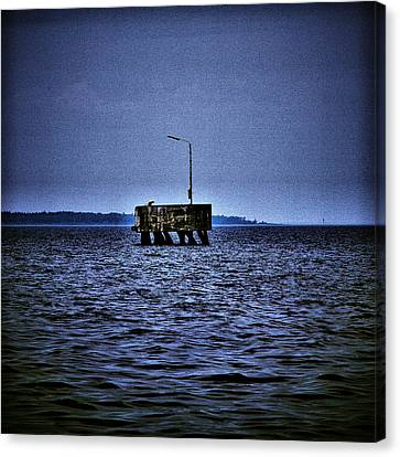 Canvas Print featuring the photograph  The Dock Of Loneliness by Jouko Lehto