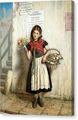 Collier Canvas Print -  The Flower Girl 1 by MotionAge Designs