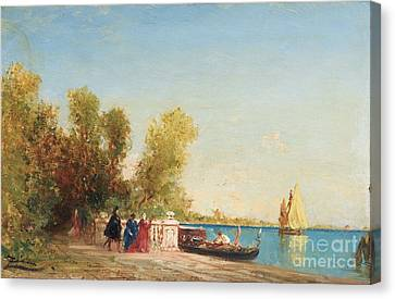 The French Gardens Of Venice Canvas Print by Celestial Images