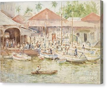 Tuke Canvas Print -  The Market Belize British Honduras by Henry Scott Tuke