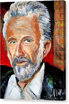 The Most Interesting Man In The World Canvas Print by Jon Baldwin  Art