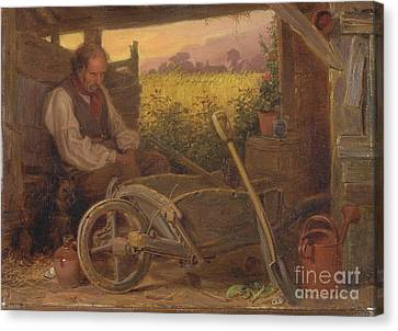 Briton Riviere Canvas Print -  The Old Gardener by Celestial Images