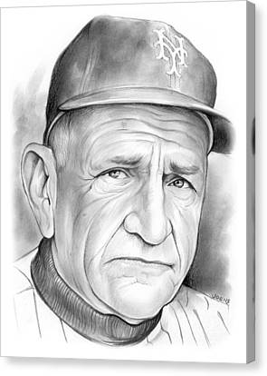 Mets Canvas Print -   The Old Perfessor by Greg Joens