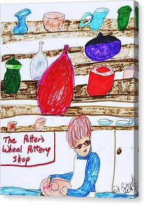 The Pottery Shop Canvas Print