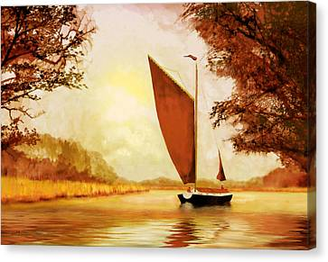 The Wherry Albion Canvas Print by Valerie Anne Kelly