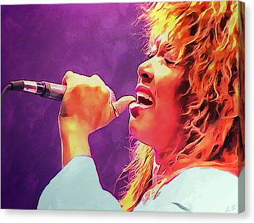 Tina Turner Canvas Print by Sergey Lukashin