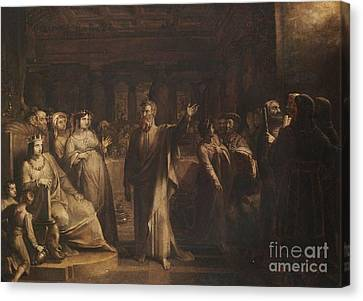 Title Study For Belshazzars Feast Canvas Print by MotionAge Designs