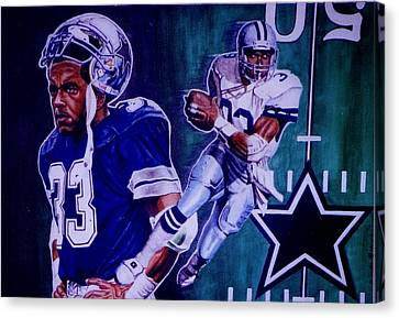 Tony Dorsett Canvas Print by Darryl Matthews